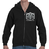 "MiddleFingerNetwork.com  ""Question Authority"" Adult Hooded Zip"