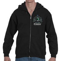 Alignment is the new hustle Lotus Adult Hooded Zip Sweat Shirt