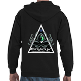 Alignment is the new hustle Lotus GeoMeTricks Adult Hooded Zip Sweat Shirt