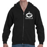 3EZ GMT (ThirdEyeZoo GeoMeTricks) Adult Hooded Zip Sweatshirt