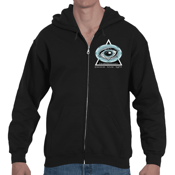 Authentic Eyentelligence ThirdEyeZoo GeoMeTricks Adult Full Zip Hooded Sweatshirt