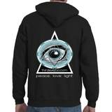 Authentic Eyentelligence ThirdEyeZoo GeoMeTricks Front & Back Logo Adult Hooded Sweatshirt