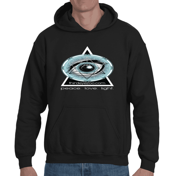 Authentic Eyentelligence ThirdEyeZoo GeoMeTricks Front Logo Only Adult Hooded Sweathshirt