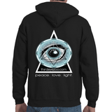 Authentic Eyentelligence ThirdEyeZoo GeoMeTricks Small Logo Front & Back Adult Hooded Sweatshirt