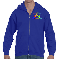 Nine Ohm Seven.com Lotus Adult Full Zip Hooded Sweatshirt