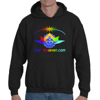 Nine Ohm Seven.com Lotus Light Worker Adult Hooded Sweatshirt