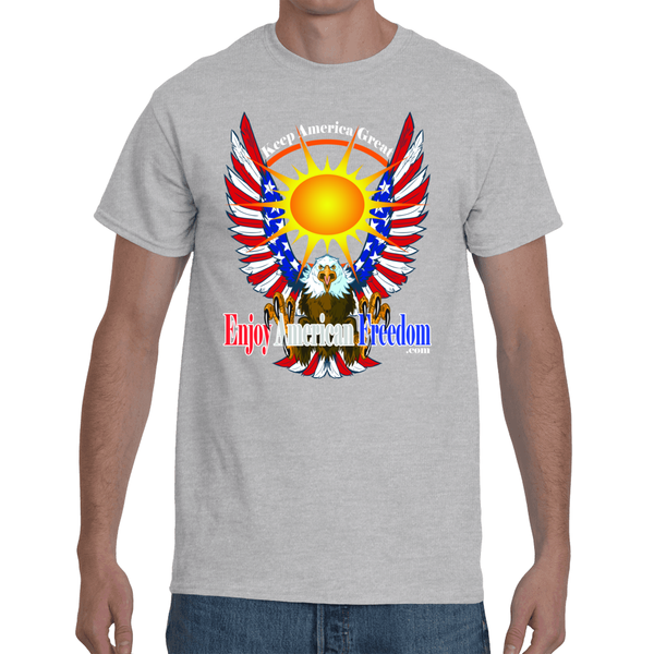 Free As A Bird, Keep America Great! Men's Short Sleeve T-Shirt