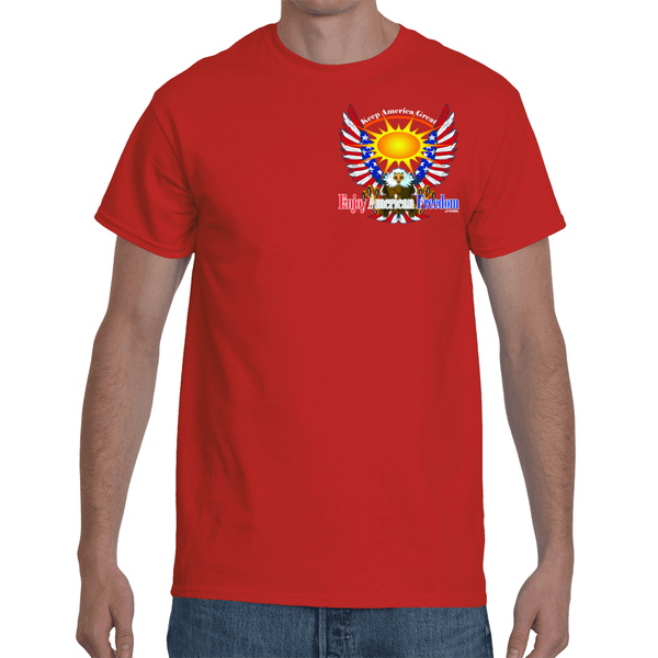 Free As A Bird, Keep America Great! Men's Short Sleeve T-Shirt F/B