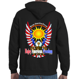 Free As A Bird, Keep America Great! Adult Hooded Sweatshirt Small Logo Front/Back