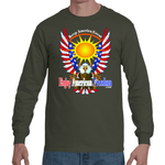 Free As A Bird, Keep America Great!  Long Short Sleeve T-Shirt