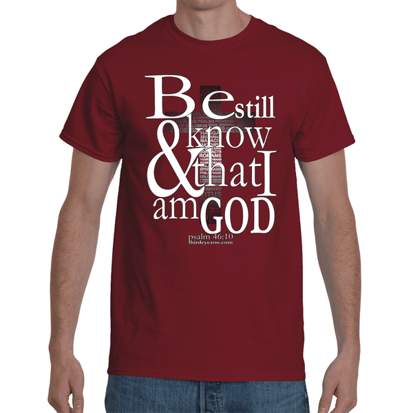 Be still and know that i am God Men's Short Sleeve T-Shirt