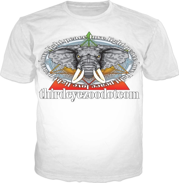 Strength in His Will White: ThirdEyeZooDotCom T-Shirt