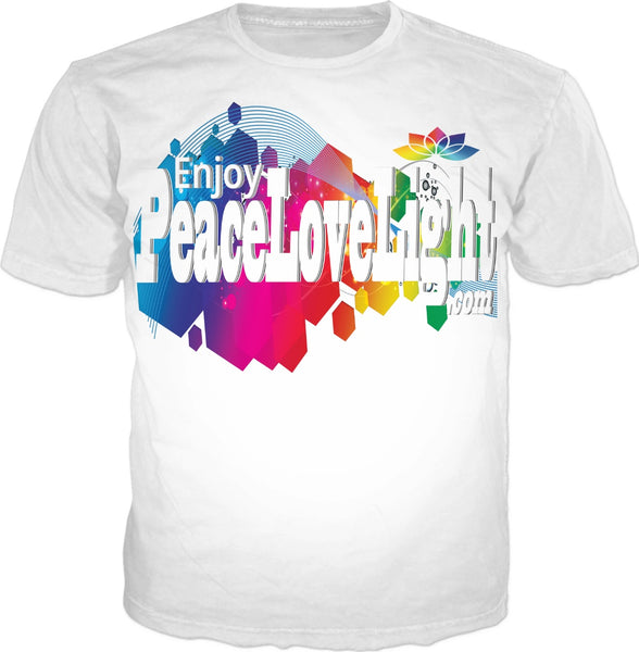 Origins: EnjoyPeaceLoveLightDotCom White T-Shirt