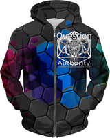 Question Authority: MiddleFingerNetworkDotCom Hoodie