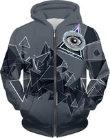 Geometric: Follow Your Heart: ThirdEyeZooDotCom Hoodie