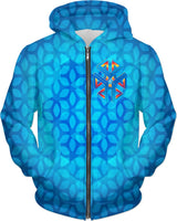 Sacred Tesseract Fourth Vortex: ThirdEyeZooDotCom Hoodie