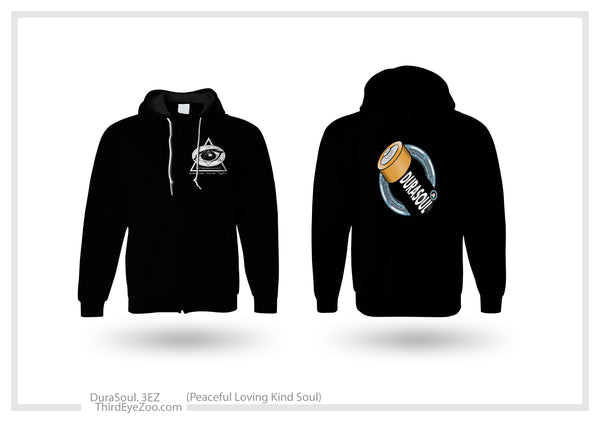 """Kind Soul. Pure Intent"" Adult Hooded Zip Sweatshirt"