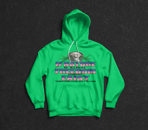 "TripleBeamLust.com ""Naturally Free"" Adult Hooded Sweatshirt"