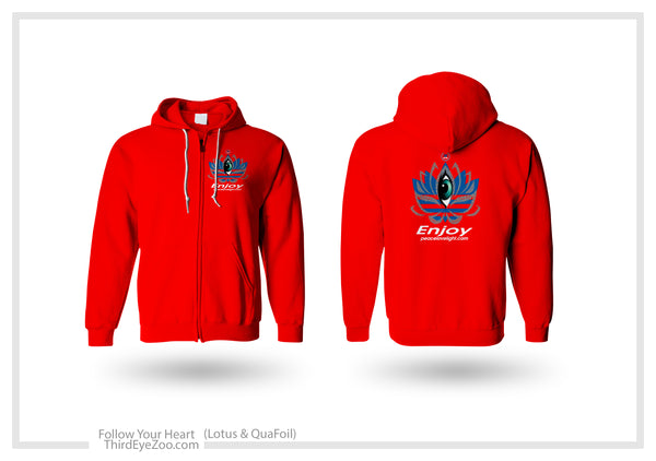 Follow Your Heart A.D.E.D.A.S Lotus Hoodie EnjoyPeaceLoveLight.com