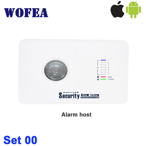 IOS & android App control 7 wireless &3 wired zone home security