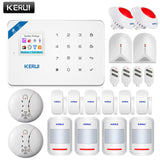 Wireless WiFi GSM Alarm System Android ios APP Control Alarm System with PIR motion sensor IP camera