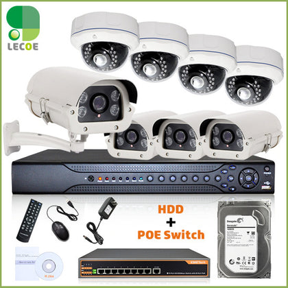 LEVCOECAM 16CH CCTV with 2TB HDD