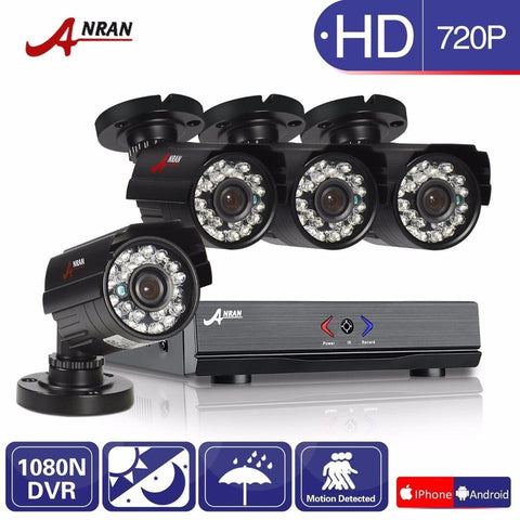 ANRAN 8CH IR Day Night Outdoor Waterproof Home Surveillance System.