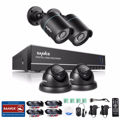 SANNCE 4CH 1080N security system 4pcs 720P CCTV.