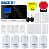 Wireless SIM GSM Home Security LCD Touch Keyboard WIFI Alarm System