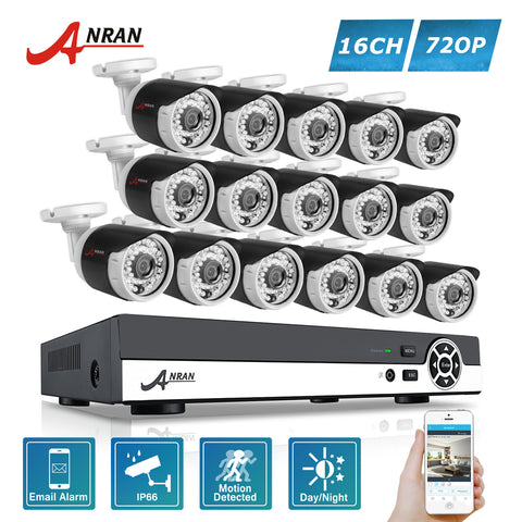 ANRAN 1080N HD 16CH DVR 720P Security Camera System