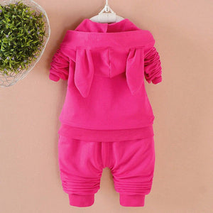 Ensemble bébé fille sweat à capuche lapin