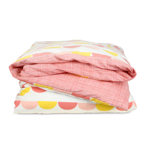 Scallop Duvet Set (Pink)