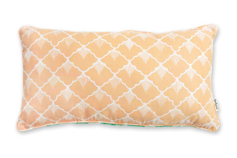 Rectangle Pillow: Dual Color Salmon & Green Pineapples