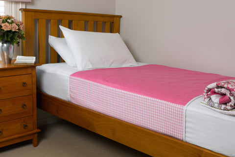 Brolly Sheets Bed Pad - Pink