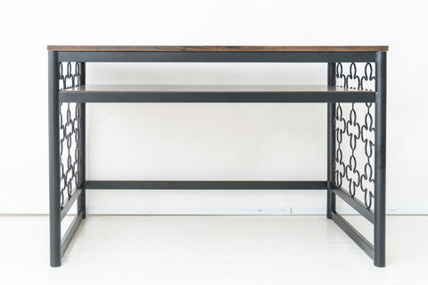 Quatrefoil Wrought Iron Desk