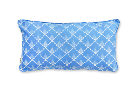 Rectangle Pillow: Dual Color Blue & Green Pineapples