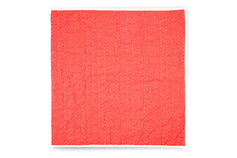 Stitched Euro Sham - Coral