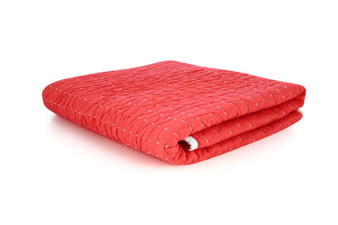 Stitched Quilt - Coral Pink