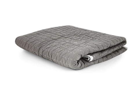 Stitched Quilt - Warm Grey