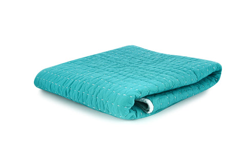 Stitched Quilt - Turquoise