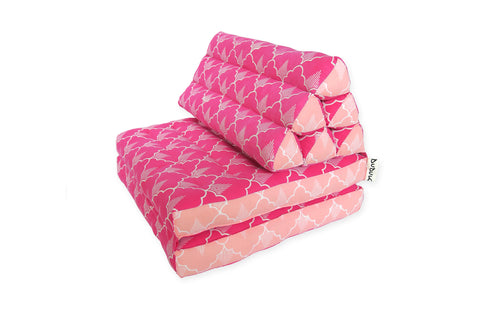 DUDUK Thai Triangle Fold Out: Pink Pineapple with Salmon Side