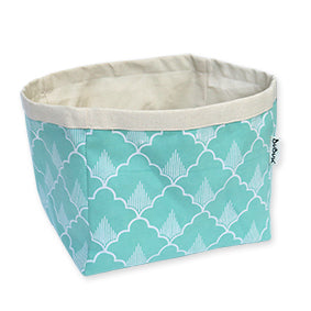 DUDUK Square Basket: Mint Green Pineapple
