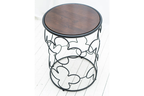 Quatrefoil Wrought Iron Bedside Table