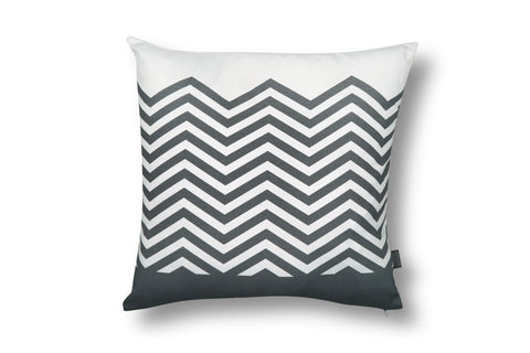 Zigzag Cushion - Grey