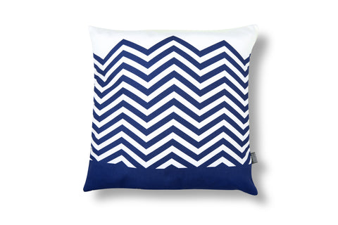 Zigzag Cushion - Navy