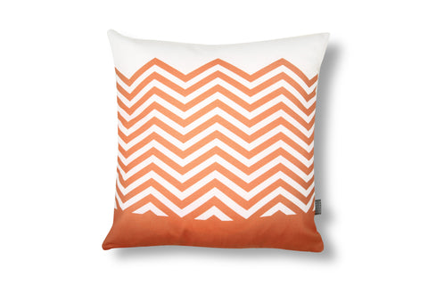 Zigzag Cushion - Orange