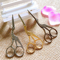 Crane Scissors in Gold, Silver or Bronze, 2 sizes.