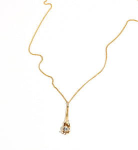 Gold and Sapphire Metropolis Necklace