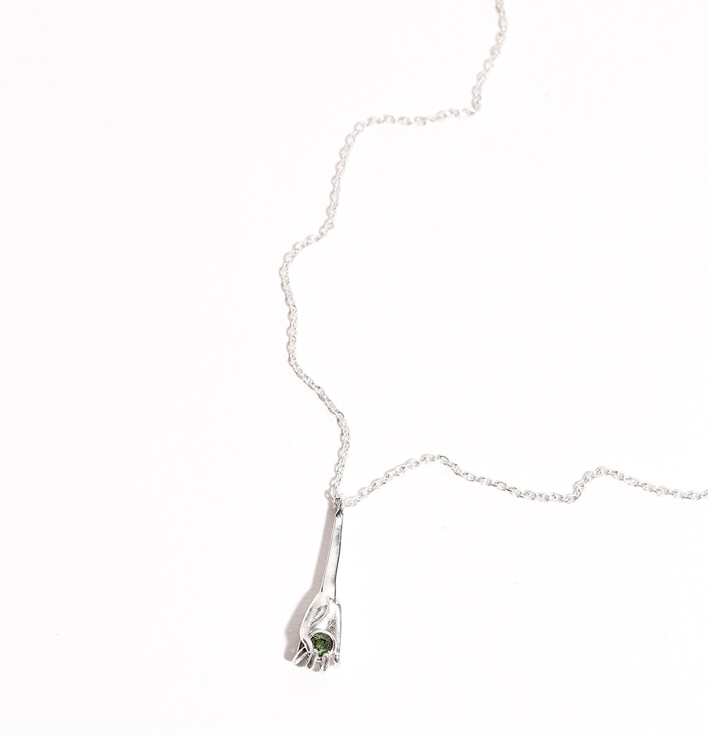 Silver Tourmaline Metropolis Necklace