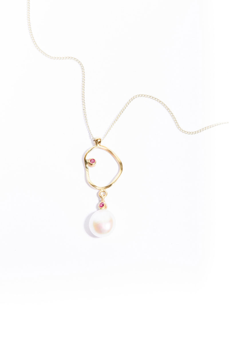 Ruby Pearl Crush Pendant